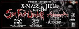 Six Feed Under und Acid Death Tour 2016 Banner