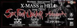 Six Feed Under und Acid Death Tour 2016 Banner