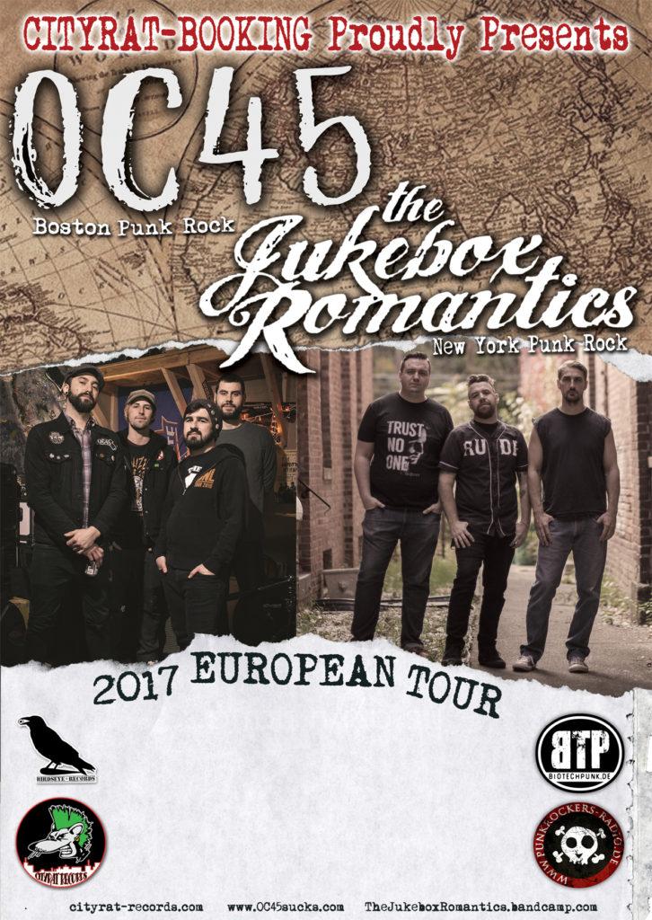 OC 45+The Jukebox Romantics Euro Tour 2017